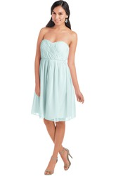 Knee-Length Sweetheart Sleeveless Criss-Cross Chiffon Muti-Color Convertible Bridesmaid Dress