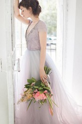 Tulle Wedding Gown Lavanda Dress