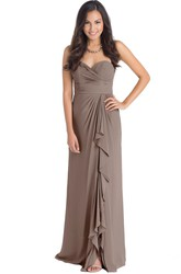 Sleeveless Criss-Cross Sweetheart Chiffon Muti-Color Convertible Bridesmaid Dress With Draping