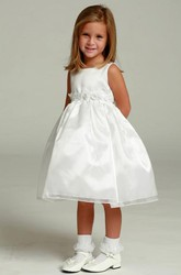 Floral Floral Organza&Satin Flower Girl Dress