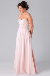 Sleeveless Sweetheart Criss-Cross Chiffon Bridesmaid Dress
