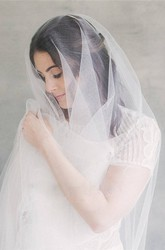 Western Style Simple Nude Tulle Bride Korean Style Soft Tulle Veil