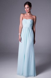 Sweetheart Chiffon Bridesmaid Dress With Ruching And Zipper