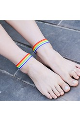 Summer Street Beat Casual Dance Yoga Foot Color Ribbon Anklet