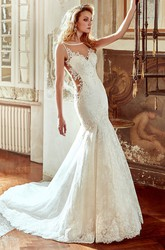 Sweetheart Lace Wedding Dress With Mermaid Style and Open Back