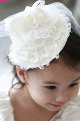 Shoulder Veils Floral headband Tulle Flower Girl Veil