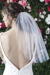 Simple Short Single Layer Wedding Veils With Hair Comb Bride Veil For Graduation Photo Headdress