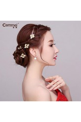 Yutong U-Type Folder Stone Leaves Section Hair Set Hair Bride Hair Hair Hairpin Hairpin