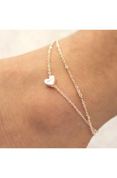 Double Love Fashion Color Gold Anklet Jewelry