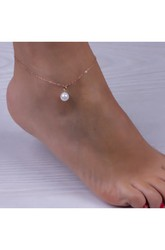 Western Style Summer Fashion Simple Pearl Anklet 22Cm