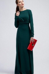 Winter Long Sleeve Sheath Jersey Formal Gown