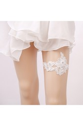 European And American Princess Sexy White Lace Elastic Bridal Garter Within 16-23inch