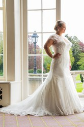 Lace-Up Sweetheart Trumpet Bridal Gown With Removable Bolero