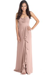 Maxi Sweetheart Criss-Cross Sleeveless Chiffon Muti-Color Convertible Bridesmaid Dress With Draping