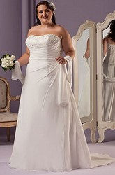 Sweetheart A-Line Bridal Gown With Lace Up And Shawl