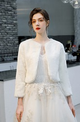 Simple Long Sleeve Jacket For Wedding Dresses