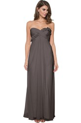Sweetheart Floral Sleeveless Chiffon Muti-Color Convertible Bridesmaid Dress With Criss Cross