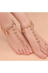 Western Style Popular Retro Ethnic Wind Beach Leisure Coins Tassel Anklets