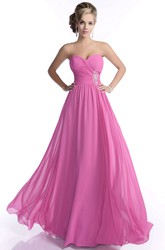 A-Line Sweetheart Chiffon Bridesmaid Dress With Crisscross Ruched Bodice
