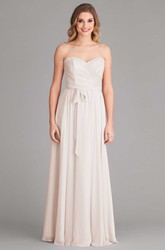 Sheath Sweetheart Chiffon Wedding Dress With Lace