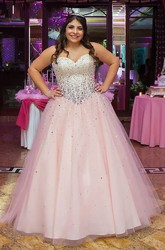 Sleeveless Floor-length Ball Gown Sweetheart Tulle Dress