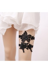 Hot Bridal Garter Black Lace Two Piece Elastic Garter Within 16-23inch
