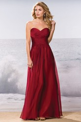 Sweetheart A-Line Floor-Length Bridesmaid Dress With Keyhole Back