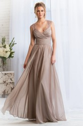 Cap-Sleeved A-Line Bridesmaid Dress With Feathers And Keyhole Back