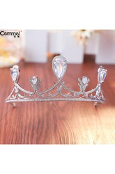 Korean Minimalist Zircon Bride Crown Headdress Necklace Three Suit Banquet Dress Jewelry