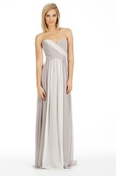 Sleeveless Sweetheart Criss-Cross Chiffon Bridesmaid Dress With Low-V Back