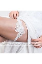 9df8db57e ... Western Style Lace Flowers Fresh Elastic Bridal Garter Within 16-23inch  ...