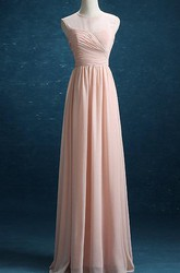 Floor-length Chiffon&Satin Dress