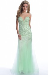 A-Line Jewel Neck Cap Sleeve Prom Dress With Bling Appliques And Keyhole Back