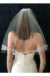 Simple Retro Single Layer Bride Wedding Veil Travel Shoots Wild Veil