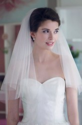 Short Veil Double-layer Simple Headband With Hair Comb Wedding Accessories