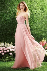Sweetheart A-Line Bridesmaid Dress With Crisscross Ruching
