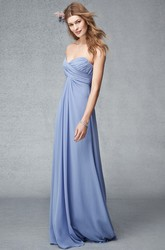 Criss-Cross Sleeveless Sweetheart Chiffon Bridesmaid Dress