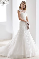 Sweetheart A-line Ruching Wedding Dress with Beaded Belt and Pleated Bodice
