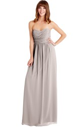 Ruched Sweetheart Sleeveless Chiffon Muti-Color Convertible Bridesmaid Dress