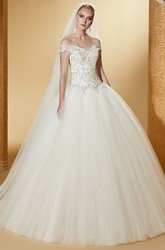 Royal Sweetheart Ball Gown With Beaded Bodice And Lace-Up Back
