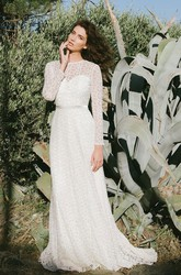 Romantic Long Sleeve Wedding Dress With Keyhole
