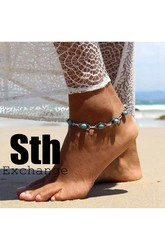 Western Style Fresh And Retro Indian Bohemian Ethnic Style Turquoise Anklet