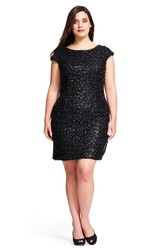 Mermaid Short Bateau Neck Short Sleeve Sequin Plus Size Bridesmaid Dress