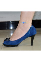Popular Hot Fashion Blue Crystal Anklet