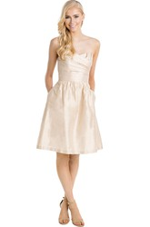 Short Sleeveless Sweetheart Ruched Taffeta Muti-Color Convertible Bridesmaid Dress With Bow