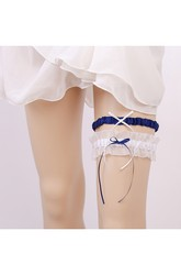 Fresh Multicolored Bow Two Piece Elastic Bridal Garter Within 16-23inch