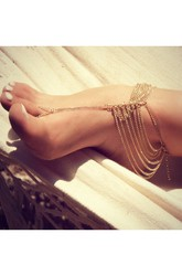 New Summer Hot Fashion Multi-layer Chain With Anklet
