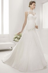 Sweetheart Mermaid Floral Bridal Gown With Removable Lace High Neck Top