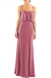 Spagetti Straps Sheath Long Dress