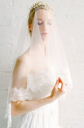Simple Travel Bridal Wedding Veil Lace With Makeup Headdress Soft Yarn